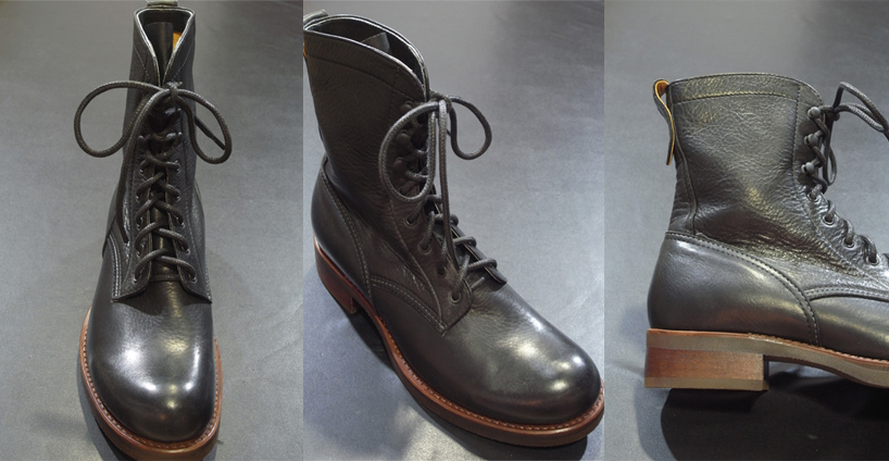 mr olive water proof shrink leather lace up logger
